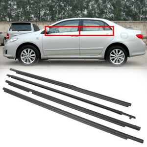 Car Outside Window Moulding Weatherstrip Seal Belt For Toyota Corolla 2009 2012