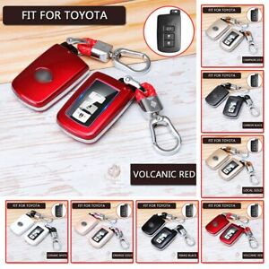 Car Key Fob Case Cover Keychain For Car Remote Key Case Toyota 3 4 Buttons