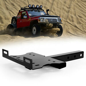 Bunker Indust Universal 2 Receiver Hitch Winch Cradle Mount Plate For Atv Truck