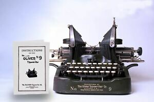 Manual For Oliver No 9 Typewriter faithful Reproduction Not Digital Download