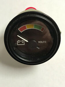 Stewart Warner 12297968 Volt Meter Battery Generator Gauge Gage Gp 475 d