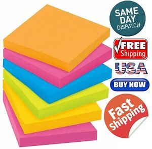 Post it Super Sticky Notes 3 In X 3 In Assorted Bright Colors 100 Sheets pad
