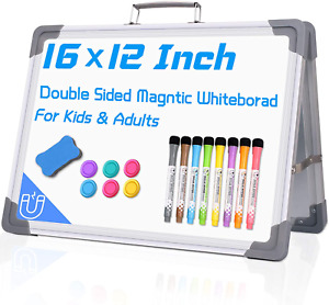 12 x16 Small Dry Erase White Board Double Sided Dry Erase Board Magnetic Deskt