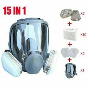 Full Face Gas Mask Painting Spraying Respirator W filters For 6800 Facepiece Us