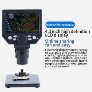 4 3 1000x Lcd Monitor Electronic Digital Video Microscope Led Magnifier Loupe