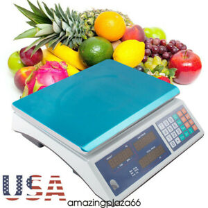 66lb Digital Deli Meat Food Computing Retail Price Scale Fruit Produce Counting