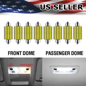 For Silverado 2007 on Dome Map Reading Led Lights Rear Courtesy Roof Lamp Bulbs