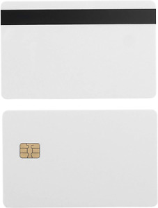 100 Pack Sle4442 Plastic Blank Chip Credit Card With Hi Co Hico Magnetic Stripe