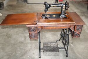 Antique 1880 S Wheeler Wilson Treadle Sewing Machine And Cabinet