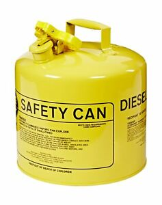 Eagle Ui 50 sy Type I Metal Safety Can Diesel 12 1 2 Width X 13 1 2 Depth