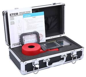 Etcr Etcr2100 Digital Clamp Ground Earth Resistance Meter Tester 0 01 1200