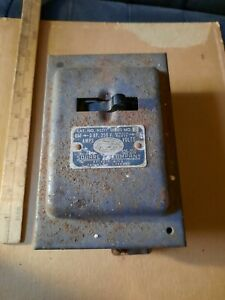 Vintage Square d Company Antique Fuse Safety Switch Steampunk Keybox Holder