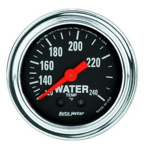 Autometer 2433 Trad Chrome Mechanical Water Temperature Gauge