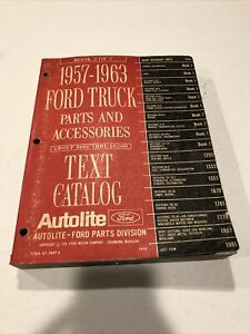 Original 1957 63 Ford Truck Parts And Accessories Catslog Manual 1970 Edition