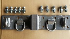 Kubota Compact Tractor Bolt On Chain Hooks D Rings Receiver 4 X 24