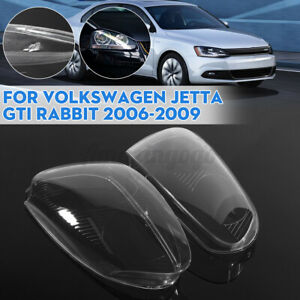 Front Right Left Headlight Clear Lens Cover For Volkswagen Gti Rabbit 06 2009