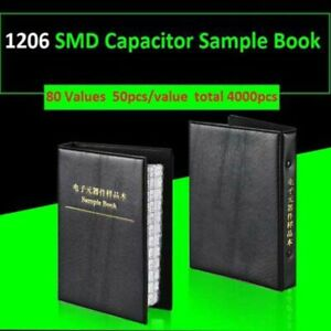 1206 Smd Capacitor Sample Book Component Assortment Kits 80 Values Each 50pcs