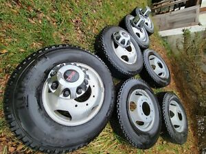 Factory Wheels And Tires Set Gmc Dually And Spare Less Than 10k Miles