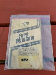 Vintage 1979 Ford Mustang Owners Manual