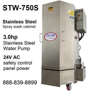 Spray Wash Cabinet Stainless Steel Parts Washer Cabinet Stw 750s 1 250lbs Load