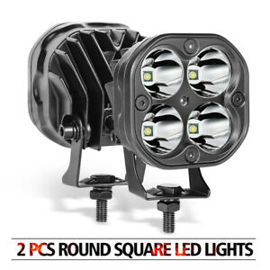2x3 Inch 80w Led Cube Pods Square Offroad Driving Lights Spot Work Light Bar Fog