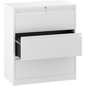 Yitahome 3 drawer File Cabinet W lock Sliding Office Vertical Storage Organizer