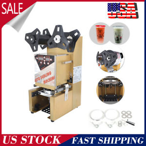 Electric Fully automatic Bubble Tea Cup Sealing Machine 350w 300 Cups hour New