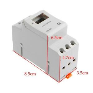 Din Rail Time Relay Switch Digital Lcd Power Programmable Timer Dc 12v New