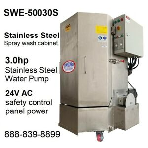 Spray Wash Cabinet Stainless Steel Parts Washer Cabinet Swe 50030s 1 250lb Cap