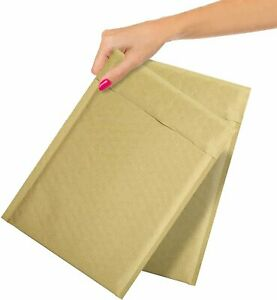 Kraft Bubble Mailers Self Seal Padded Shipping Envelopes Natural Brown All Size