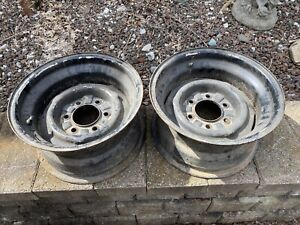 Truck Wheels Rim Rims Rallye 1970s 1980s Rally 6 Lug Chevy Ford Firestone 15 X 8