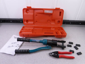 Lulultn Hydraulic Wire Crimper Crimping Tool 6 Dies Battery Cable Lug Terminal