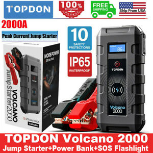 Portable 12v Auto Battery Jump Starter Car Jumper Box Power Bank Booster Charger