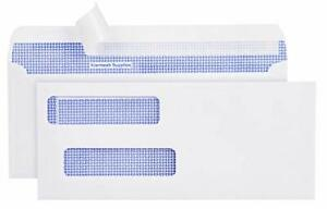 550 Double Window Check Envelopes Security Tinted Compatible For Quickbooks