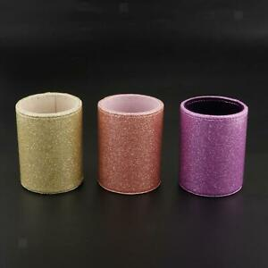 Pencil Cup Desk Organizer Glitter Pen Holder Leather Home Office Multifunction