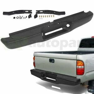 For 1995 2004 Toyota Tacoma Black Steel Complete Rear Steel Bumper Assembly