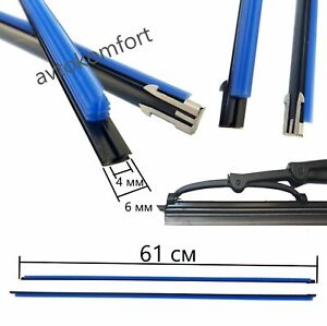 61 Cm Silicone Front Windscreen Wiper Blade Strip Refill Traditional Car Wiper