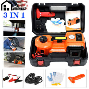 Portable 5ton 3in1 12v Electric Hydraulic Floor Jack Lift With Led Air Inflator