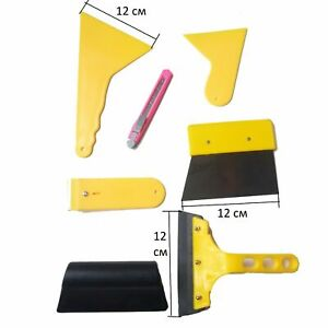 Window Tint Film Car Tools Squeegee Applicator Kit Install Vinyl Wrapping Folio