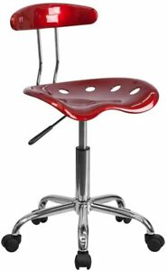 New Adjustable Work Shop Stool Chair Swivel Bench Mechanics Rolling Garage Seat