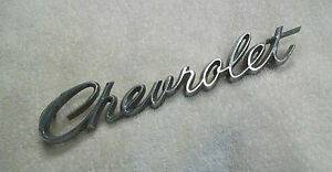 Chevrolet Heavy Duty Metal Letters Vintage