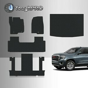 Toughpro Floor Mats Full Set Black For Gmc Yukon Xl 2nd Row Bucket 2021 2022