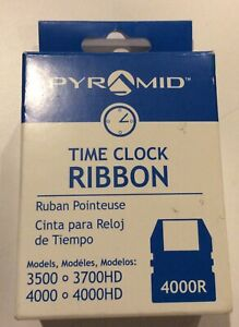 Pyramid Time Clock Ribbon Jet Black 4000r Fits 3500 3700hd 4000 4000hd New