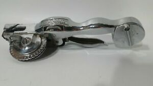 Roovers Ny Chrome Metal Matic Label Maker Tape Writer Vintage
