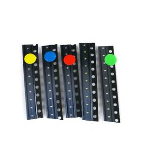 50pcs Smd 0402 Led Common Components Package Red Blue Green Yellow White Leds