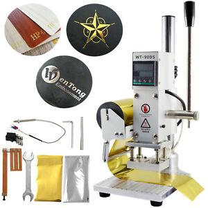 Leather Hot Foil Stamping Machine 5 7cm Pvc Card Embossing Bronzing Stamper 110v