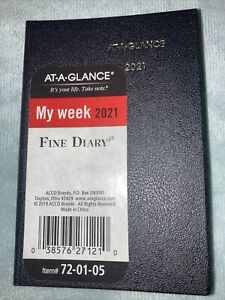 2021 At a glance Weekly monthly Fine Diary Pocket 72 01 05