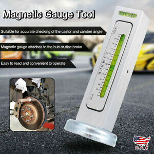 New Truck Car Camber Castor Strut Wheel Alignment Magnetic Gauge Tool Kit W1q4