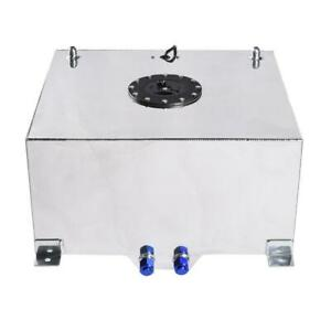 15 Gallon 60 Litre Lightweight Polished Aluminum Fuel Cell Tank And Level Sender