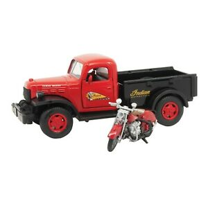 Model Set 1946 Dodge Power Wagon 1947 Indian Chief Motorcycle Die Cast Models